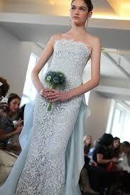 Resultado de imagen para de la renta blue wedding dresses