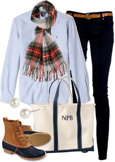 Plaid & bean boots bean boots outfit, ll bean boots, boot outfits, Preppy Casual, Preppy Outfits, Preppy Style, Cute Outfits, My Style, Preppy Wardrobe, Preppy Clothes, Casual Wear, Bean Boots Outfit