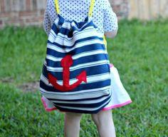 Esta sacola de pano infantil pode também ter outro estilo (Foto: en.paperblog.com)