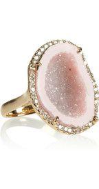 Kimberly McDonald18-karat rose gold, geode and diamond ring