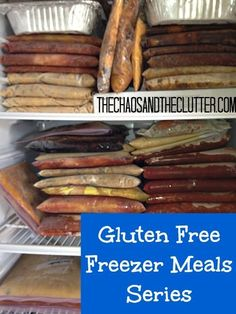 Gluten Free Freezer Meals Series - excellent resource! Time to get a second freezer...