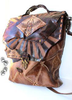 4lapki женская сумка Египет пулл-ап кожа КРС крокодил ручная работа / Egypt genuine leather bag purse crocodile handmade leatherwork craft