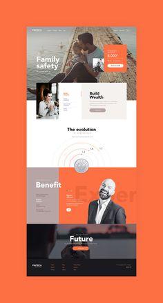 Landingpage Ui design concept for Financial sector by lluck Web hosting at arweb Web Design Websites, Web Design Examples, Creative Web Design, Web Ui Design, Web Design Trends, Page Design, Footer Design, Mobile Web Design, Website Design Inspiration