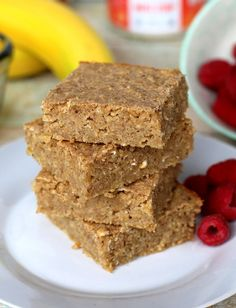 Healthy Blender Breakfast Bars (Kid Approved!)