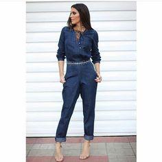 Closet Lit: Macacão Longo Jeans