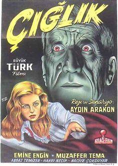 """14-ciglik-filmTürk sinema tarihinin ilk korku filmi, 1949 yılı yapımı """"Çığlık""""…"""