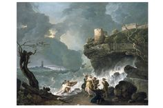 This image is of the terrible storm that killed Ceyx. Ceyx and Alcyone Richard Wilson National Museum Wales, National Museum Cardiff Richard Wilson, Great Paintings, Landscape Paintings, National Museum Of Wales, England, Greek Mythology, Classical Mythology, Roman Mythology, Scenic Design
