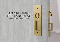 Pocket Door Handles, Pocket Door Lock, Pocket Door Hardware, Bathroom Door Locks, Bathroom Pocket Door, Door Handle With Lock, Room Swing, Mortise Lock, Bathroom Renovations