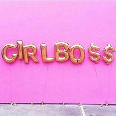 Girl Boss foil balloons // boss babe // lady boss // female entrepreneur
