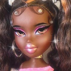 """Find and save images from the """"𝒃𝒓𝒂𝒕𝒛."""" collection by _ (thotaries) on We Heart It, your everyday app to get lost in what you love. Bratz Doll Makeup, Bratz Doll Outfits, Black Girl Cartoon, Black Girl Art, Cartoon Profile Pics, Cute Profile Pictures, Black Bratz Doll, Brat Doll, Bratz Girls"""