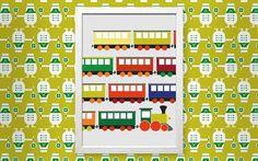 Bild Trains - Designer Tapeten DecorPlay Advent Calendar, Kids Rugs, Train, Holiday Decor, Pictures, Design, Home Decor, Wallpapers, Photos