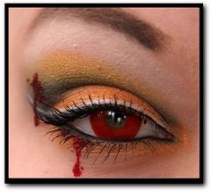 Jamie Warmanberg posted Cool makeup for halloween to his -make up tips- postboard via the Juxtapost bookmarklet. Halloween Eye Makeup, Halloween Eyes, Halloween Looks, Holidays Halloween, Halloween Crafts, Halloween Costumes, Halloween Clothes, Halloween Vampire, Halloween Painting