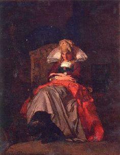 """Robert Wylie (1839 – 1877),  """"Femme de Pont-Aven"""", 1876"""