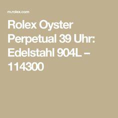 Rolex Oyster Perpetual 39 Uhr: Edelstahl 904L – 114300