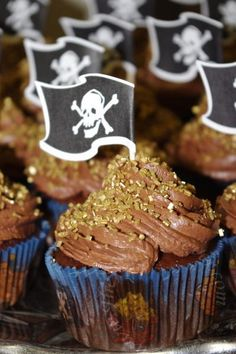 Pirate Cupcakes with Gold
