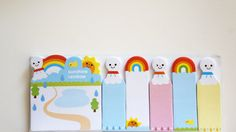 Rainbows and Ghosts Sticky Notes Post-it Planner by CNSdesignsPH