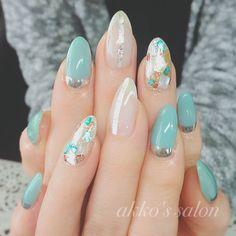 Cute Nail Art, Cute Nails, Pretty Nails, Fancy Nails, Asian Nails, Korean Nail Art, Nail Pictures, Kawaii Nails, Japanese Nails