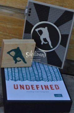 Undefined: Hand-Carved Hockey www.sleeplessstamper.com @Stampin' Up!