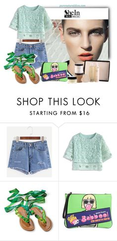 """Blue Ripped Denim Shorts"" by purenaturaldiva ❤ liked on Polyvore featuring Hemingway, Chicwish, Leo Studio Design, naturalbeauty, organicbeauty and purenaturaldiva"