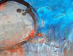Blue Water - Detail Acryl-Mischtechnik