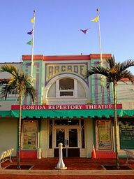 The colorful Florida Repertory Theatre in Downtown Fort Myers
