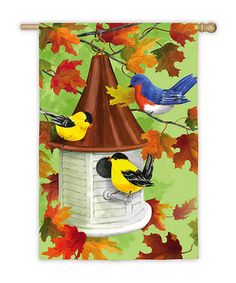 Take a look at this Fall Birdhouse Flag by Evergreen on #zulily today!15