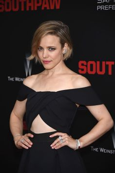 Rachel McAdams at the 2015 New York premiere of 'Southpaw'. http://beautyeditor.ca/2015/07/25/best-celebrity-beauty-looks-ashley-benson