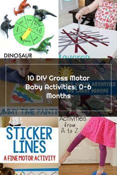 10 DIY Gross Motor Baby Activities: 0-6 Months | Joyful Bunny Gross Motor Activities, Infant Activities, Fine Motor, Joyful, 6 Months, Bunny, Diy, Kid Activities, Rabbit