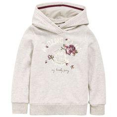 Ikks Mottled ivory fleece hoodie Cream - Ivory - 48260 | Melijoe.com