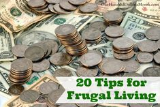 20 Tips for Frugal Living -- I feel like I am always looking for new ways to save money.  For me, the more money I save, the more I have to travel and use to do things I really I want to do.  The key, I think to living frugally, is to not FEEL like you are living without.  Most of...