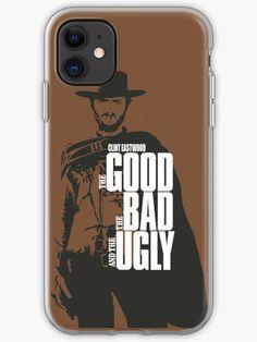 Coque et étui iPhone 'Clint Eastwood' par Laura Frère Clint Eastwood, East Wood, Film Movie, Movies, Coque Iphone, Western Cowboy, Old School, Fanart, Iphone Cases