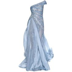 Ball gown ❤ liked on Polyvore featuring dresses, gowns, blue ball gown, pin dress, blue evening gown, blue dress and blue gown