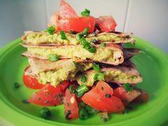 Avocado Yeasadilla with Scallion Salsa