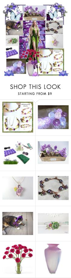 """Purple Passion"" by belladonnasjoy ❤ liked on Polyvore featuring Nearly Natural, modern and rustic"