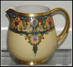 RARE Antique Art Deco Royal Bavarian Hand Painted Porcelain Cider Jug Barger   eBay