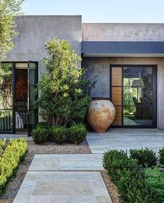 New exterior house entrance ideas entryway ideas Exterior Front Doors, Exterior House Colors, Exterior Design, Wall Exterior, Building Exterior, Modern Backyard, Modern Landscaping, Backyard Landscaping, Landscaping Ideas