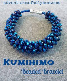 Kumihimo Beaded Bracelets Tutorial |Adventures of a DIY Mom
