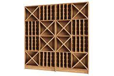 Passt zwar nicht in meinen Weinkeller, aber einfach schön... oak wood wine cabinet.  more: http://www.vitinil.lv/Wine-cabinets-XL