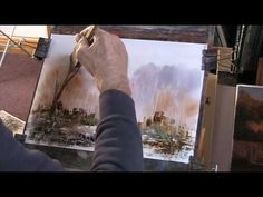 How to paint an impressionist watercolour - YouTube