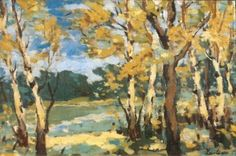 Stefan Luchian Autumn Woods - Handmade Oil Painting Reproduction on Canvas Canvas Painting Landscape, Painting On Wood, Canvas Online, Post Impressionism, Art Database, Oil Painting Reproductions, Top Artists, Canvas Frame, Illustration Art