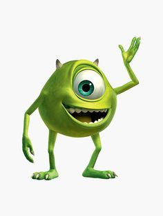I chose a picture of Mike Wazowski because Cara named her dog Mike after this cartoon character because both only have one eye. Disney Sidekicks, Disney Pixar Movies, Disney Animated Movies, Animated Cartoons, Character Aesthetic, Character Design, Mike Wazowski Costume, Mike From Monsters Inc, Monster Birthday Parties