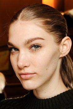 stella mccartney f/w 2013 naked skin, minimal mascara and groomed, full brows