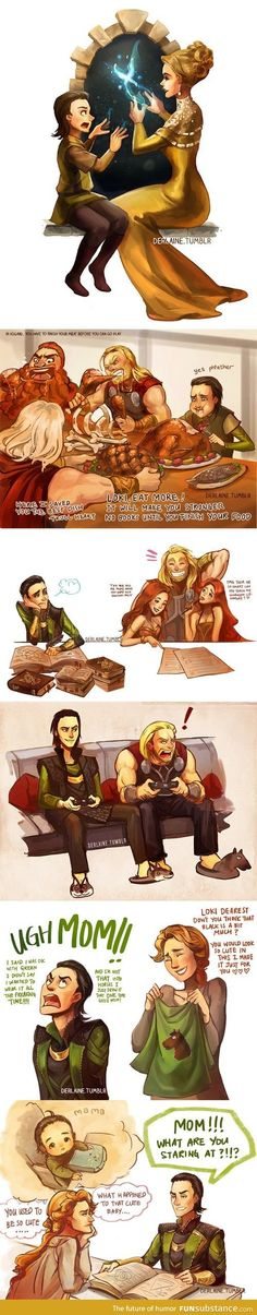 Loki's childhood. My fandoms, now including stuff BESIDES destiel, destiel and... oh look! Even MORE destiel