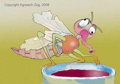 Illustration Mücke von Agnesch Zug