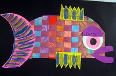 Cassie Stephens: In the Art Room: The Art Show Part 1 - Woven Fish