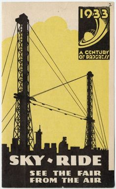 Sky-ride pamphlet, 1933 World's Fair; University of Chicago Libraries Special Collections Research Center