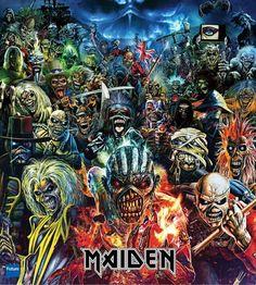 [Kindle] Calendrier mural 2020 pages Iron Maiden Eddie Album Covers Vintage Affiche, Auteur : Pixiluv Iron Maiden Band, Iron Maiden Eddie, Iron Maiden Cover, Iron Maiden Album Covers, Heavy Metal Bands, Heavy Metal Art, Rock Posters, Band Posters, Iron Maiden Albums