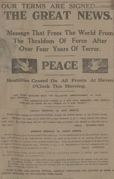 Newspaper Stories and Illustrations Published on Armistice Day in 1918