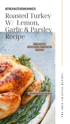 Best Thanksgiving Recipes, Thanksgiving Stuffing, Thanksgiving Feast, Holiday Recipes, Turkey Recipes, Meat Recipes, Recipies, Cooking Recipes, Parsley Recipes
