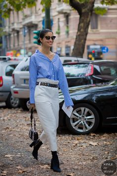 Caroline Issa | Street Style | MFW SS 2016 | Photo: Phil Oh | Source: STYLEDUMONDE